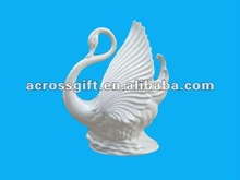 ceramic white swan for home decoration