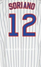 Cubs Baseball Soriano white #12 Alfonso Jerseys
