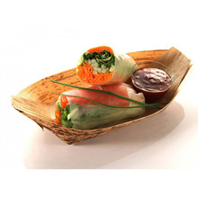Bulk Factory Disposable Tableware Boat Type Wooden Bamboo Plates