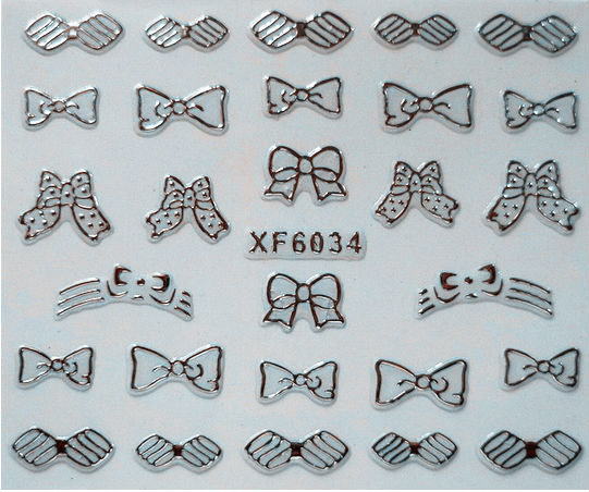 2014 new fashion silver gold nail stickers decals nail sticker 3d