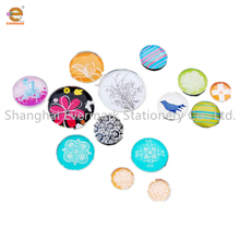 latest fashion top design crystal glass magnets