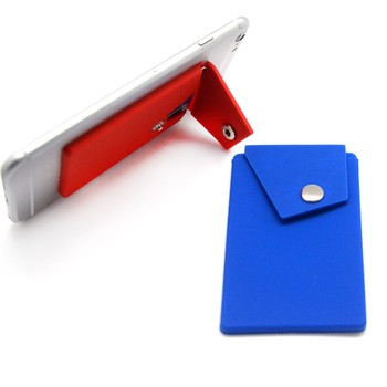 Smart phone wallet with button