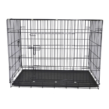 Galvanized Iron cheap black purple pet dog crate