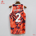 Custom Basketball Jersey Uniform Design Embroidery Sublimated Basketball Jersey