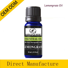 10ml prue Lemongrass oil with amber grass bottle