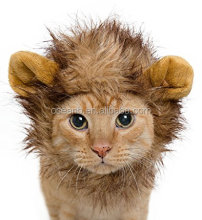 Lion Mane Costume for Cats & Dogs FREE Feathered Catnip Toy Included Cute Halloween Pet Costume for Yorkies, Maltese