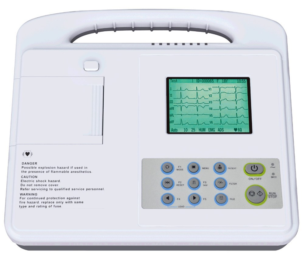 Hot sale CLS-2000G ecg 80a portable ecg machine made in China
