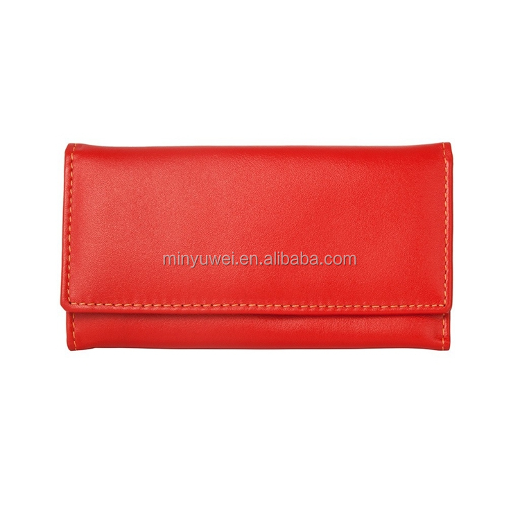 2018 fashion handmade calfskin leather key holders multi colors unisex credit card key wallet hot