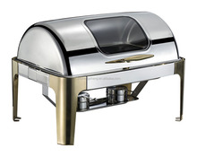 Hot Sale Stainless Steel 9L Chafing Dish with Roll Top Lid