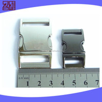 metal curved buckle, metal side release buckle, 1'' side release buckle for bag