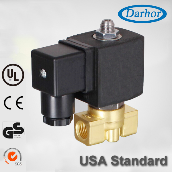 Three way two position solenoid valve operation