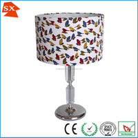colorful birds with printing on TC cotton lamp shade for table or pendant SX-0015