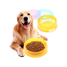 Chinese supplier printed wholesale cheap fancy round plastic dog food feeding bowl