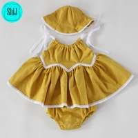 ShiJ Lace Goldenrod Plain Swing Kid Clothing
