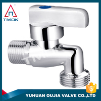 TMOK 1/2 inch water faucet and thread material Hpb57-3 and two way motorized and full port bibcock in OUJIA VALVE FACTORY