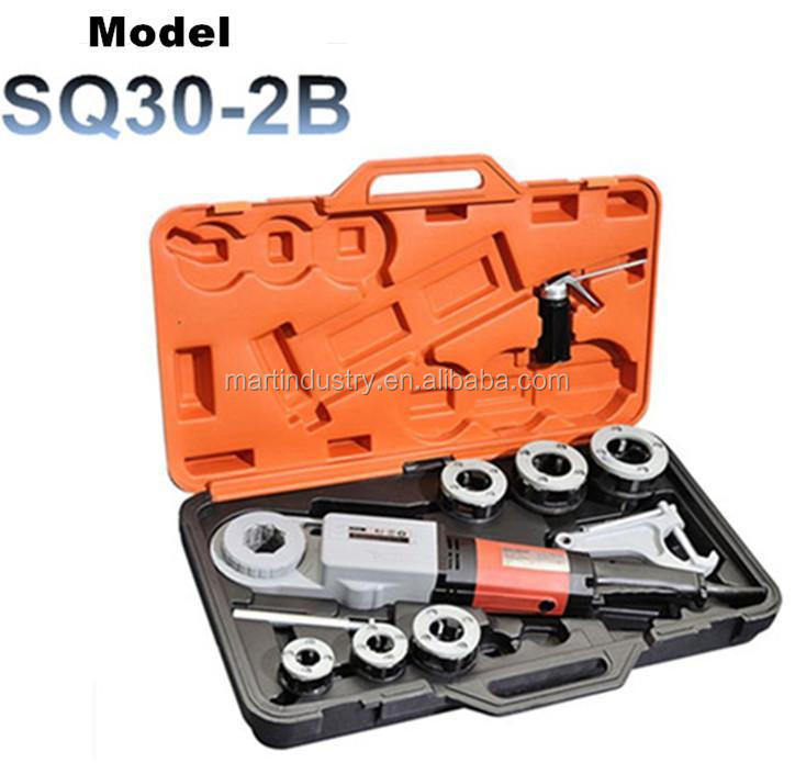 Portable Electric Pipe Threader with 6 Dies and Pipe Cutter