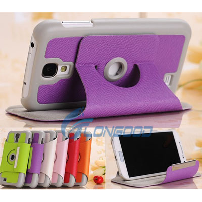 High Quality 360 degree Rotating Leather Case with Holder for Samsung Galaxy S4 / i9500