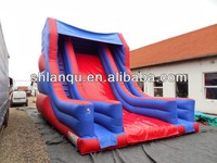 Cheap red and blue Inflatable Slides for Kids