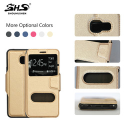Popular Window PU Leather Mobile Phone Cover