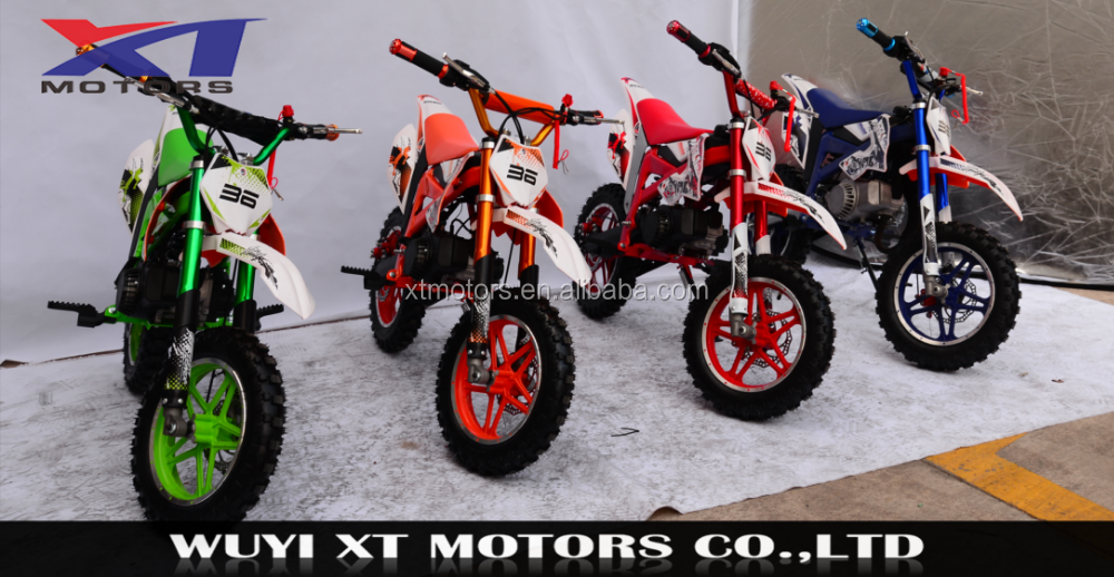 WUYI XT MOTORS 2017 49cc mini cross mini kids dirt bike