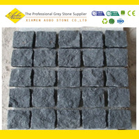 Black paving stone natural granite garden wall stone