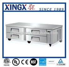 Stainless Steel Commercial Counter,Refrigerated Chef Base with 4 Drawers_CB-72