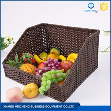 Supermarket display wholesale rattan poly rattan basket
