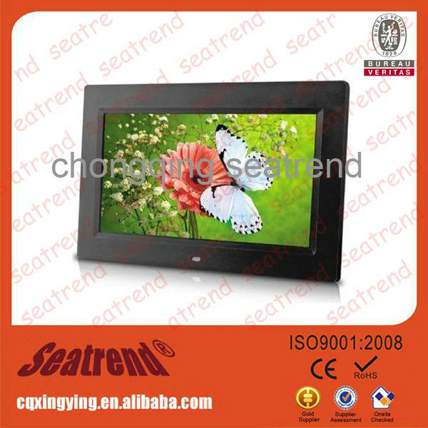 digital photo frame support photo/music/video OEM muti-functional(calendar+clock+timing on/off) 40 inch digital photo frame