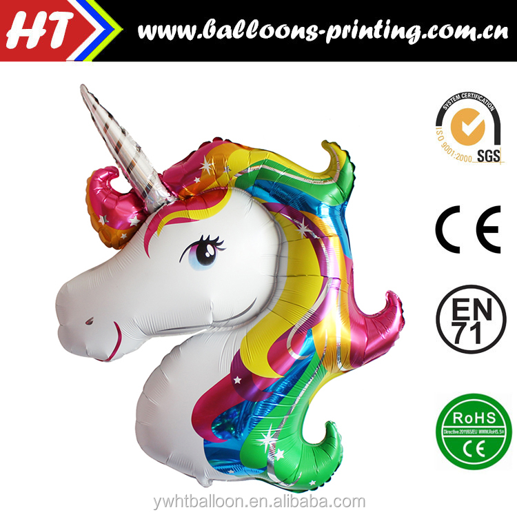 Hot Sell Inflatble Foil Animal Balloons Helium Horse Balloons Foil Mylar Unicorn Balloon For Party Decoration