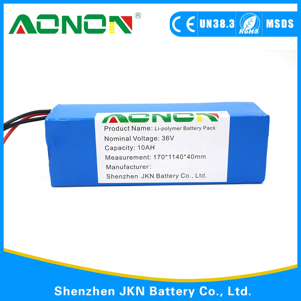 customized 36V10Ah Li-polymer battery pack for energy storage as solar system etc.