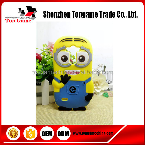New Cute Cartoon Despicable Me Minion Silicone Case For LG Optimus G3 Case