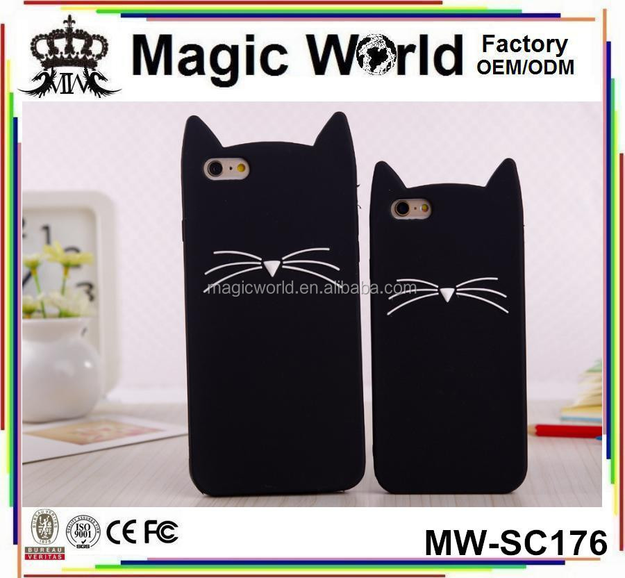 Soft Mobile Cover Cute Cat Silicone Cell Phone Case For iPhone 6