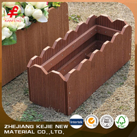 composite wooden flower boxes stand wpc flower planter for sale
