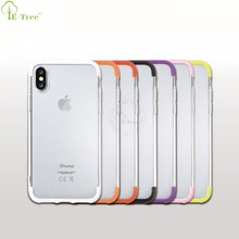 Customized Hybrid Hard PC Frame Ctystal TPU Bumper Back Cover Case For iPhone x