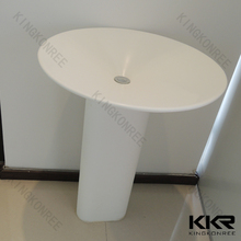 traditional bathroom vanity solid surface basin & mirror