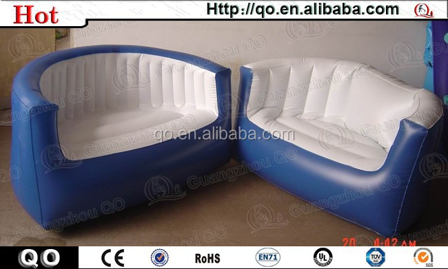 Novel design best price mini inflatable corner sofa
