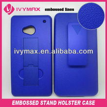 embossed kickstand holster accessories for HTC one para celular case