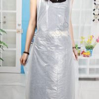 Widely Used Colorful Thick Plastic HDPE Disposable Apron For Kitchen