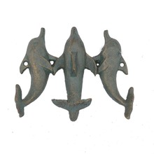 Antique hot sale handmade art and crafts cast iron wall animal key hooks