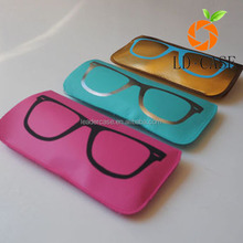 soft cute sunglasses,small leather sunglasses/glass case