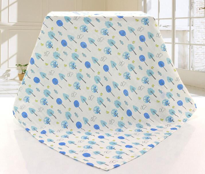 Baby Muslin Swaddle Blanket Wrap 100% Cotton Super Soft 47x47""