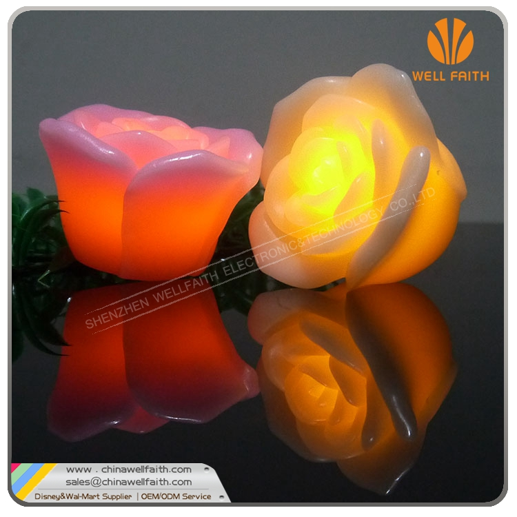Valentine Decoration Multi-Color Led Rose Light