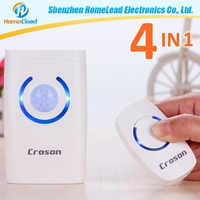 150m long range electric commercial door chime alarm doorbell with 4 in 1 function