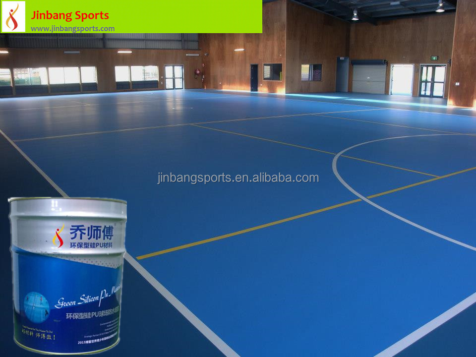 ITF Certified Silicone PU Court Surface for Stadium Volleyball/Basketball/Tennis/Badminton Court