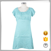 Chinese high quality green women cheap plain dress patterns