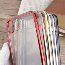 Simple Clear TPU Phone Case Cover For Galaxy S5 S6 S6Edge S7 S7Edge