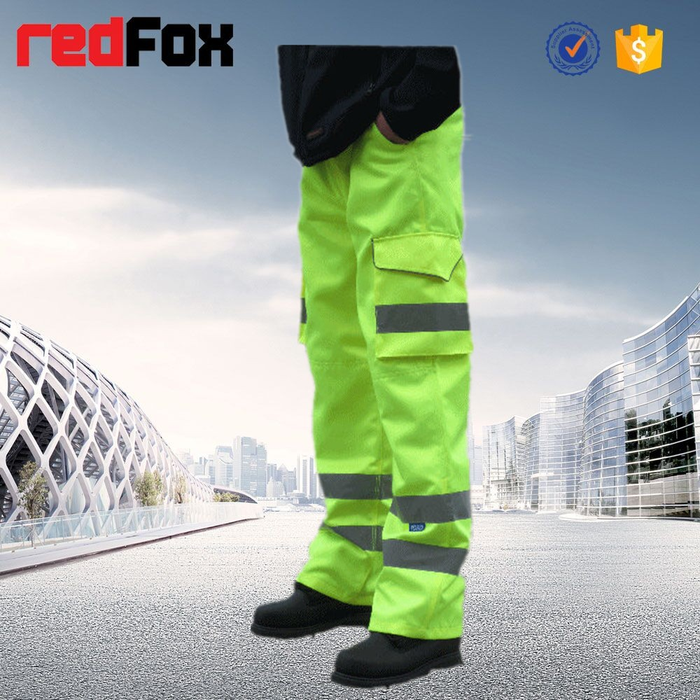 reflective safety work cargo pants