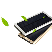 outdoor solar power bank charger 12000mah with LED light