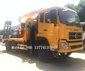 China factory hot sale dongfeng diesel 210hp 6x4 flatbed truck mounted crane 5 ton