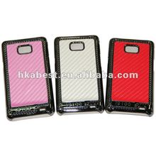 metallic back cover with carbon fiber skin for Samsung Galaxy s2 i9100